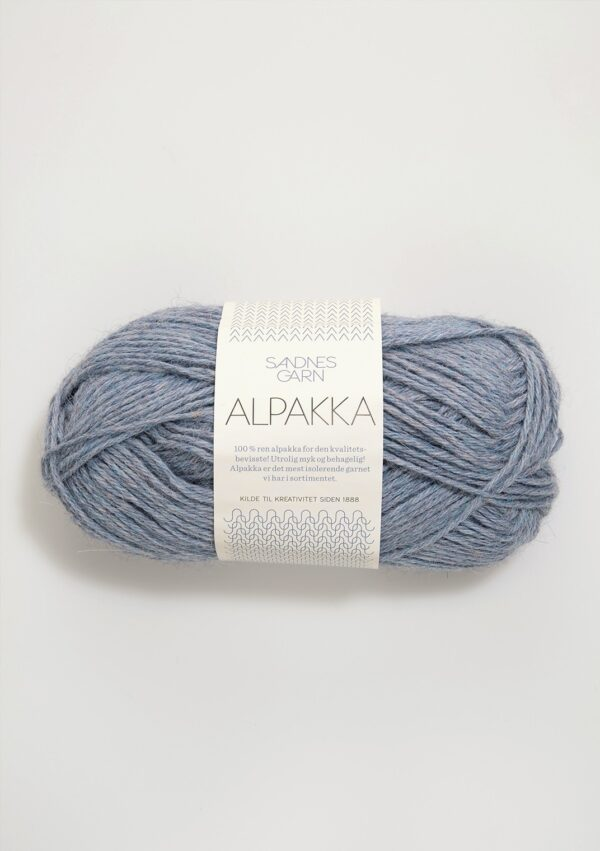 Sandnes Alpakka 6221 Lys blå meleret