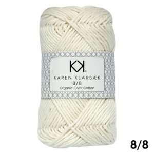 KK Color Cotton 8/8 1018 Nature White