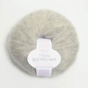 Garn Sandnes Tynn Silk Mohair 1022 - Lys Gråmeleret