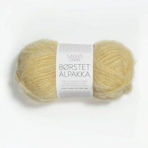 Sandnes Børstet Alpakka 2112 - Lys Gul