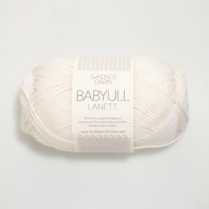 Sandnes Babyull Lanett 1001 - Hvid