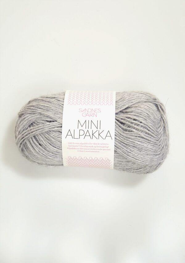Sandnes Mini Alpakka 1032 - Lys Gråmeleret