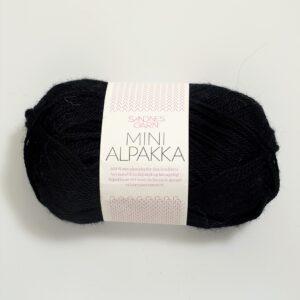 Garn Sandnes Mini Alpakka 1099 Sort