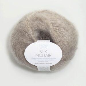 Garn Silk Mohair 2650 Beigemeleret