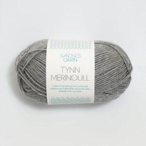 Sandnes Tynn Merinoull 1042 - Gråmeleret