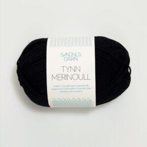 Garn Sandnes Tynn Merinoull 1099 - Sort