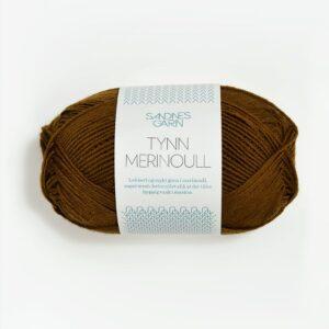 Sandnes Tynn Merinoull 2564 - Gyldenbrun