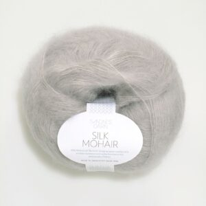 Garn Silk Mohair 1032 Lys Grå