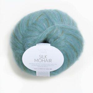 Sandnes Silk Mohair 6050 - Blå Print
