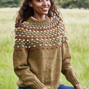 Sweater med boblebærestykke - Opskrift 893460