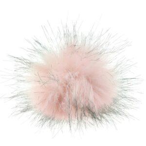 Mini-pompon i rosa/Grå