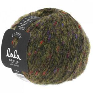 Lala Berlin Fluffy 120 - Olivengrøn