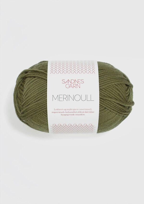 Sandnes Merinoull 9364 - Olivengrøn