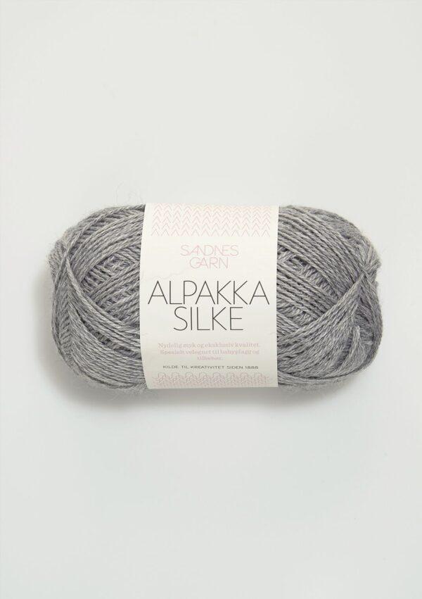 Alpakka Silke 1042 - Gråmeleret fra Sandnes