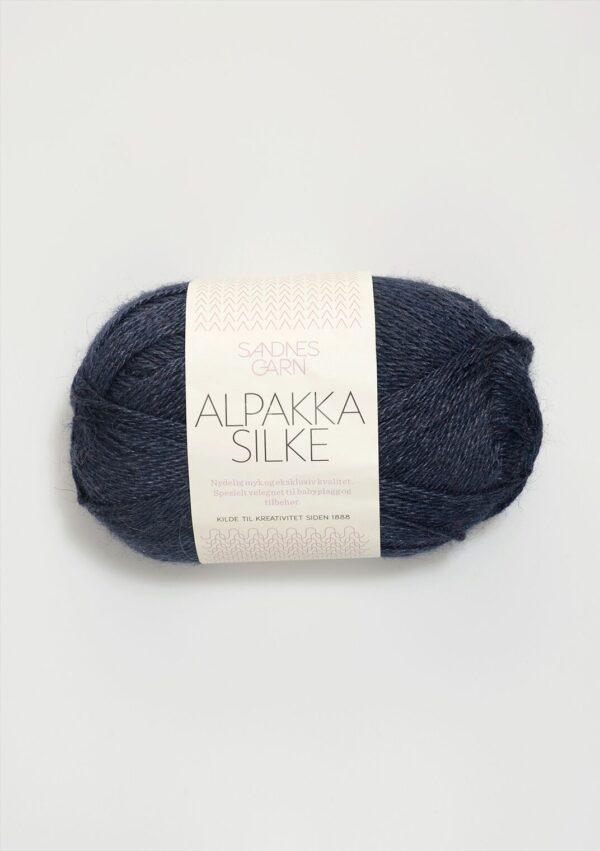 Alpakka Silke 6081 - Dyb Blå