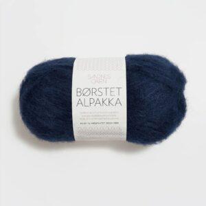 Garn Sandnes Børstet Alpakka 5575 - Marineblå