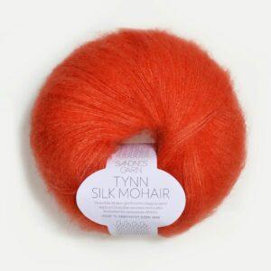 Tynn Silk Mohair Orange fra Sandnes