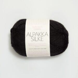 Alpakka Silke 1099 - Sort