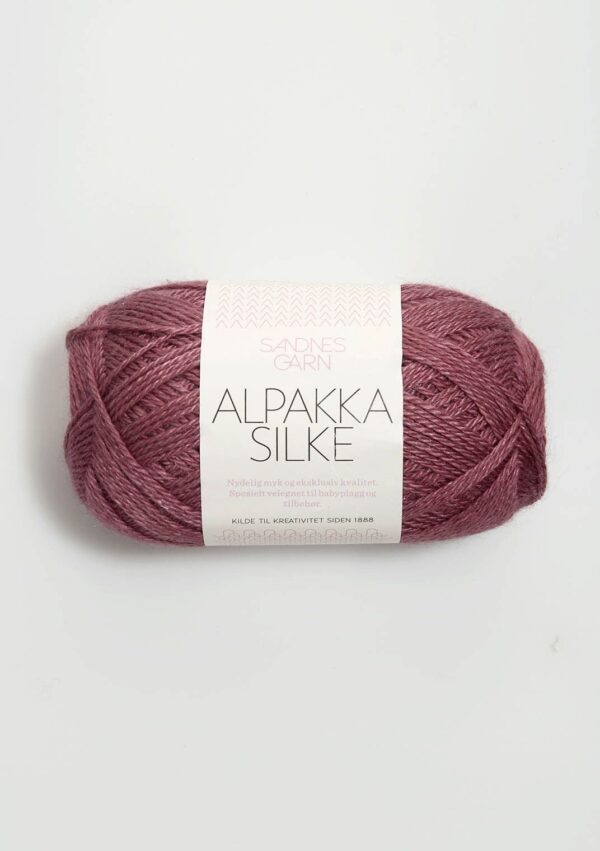 Alpakka Silke 4244 - Mørk Gammelrosa