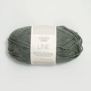 Garn Sandnes Line 8561 - Støvet Grøn