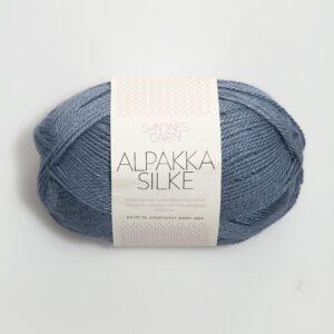 Alpakka Silke 6052 - Jeans Blå