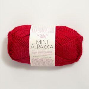 Garn Mini Alpakka 4219 Rød