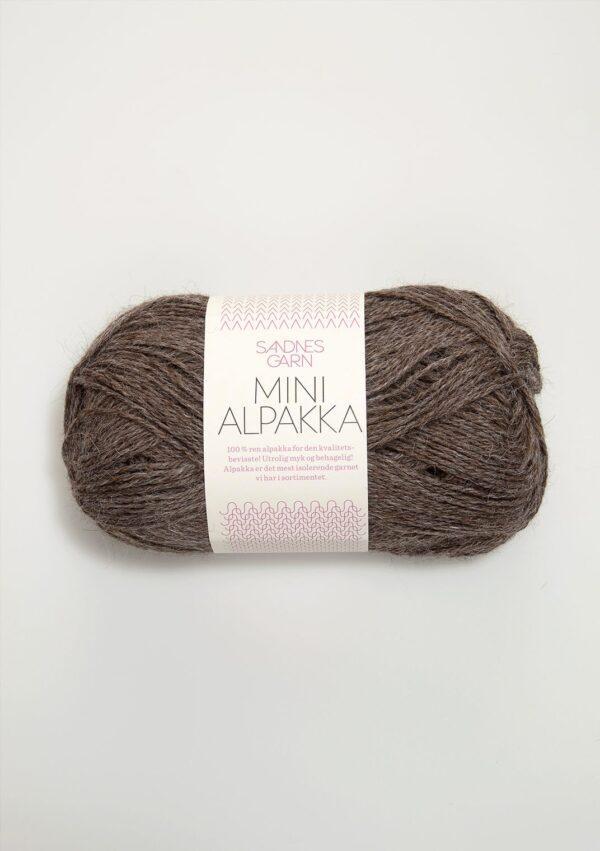 Garn Mini Alpakka 2652 Mellembrun Meleret