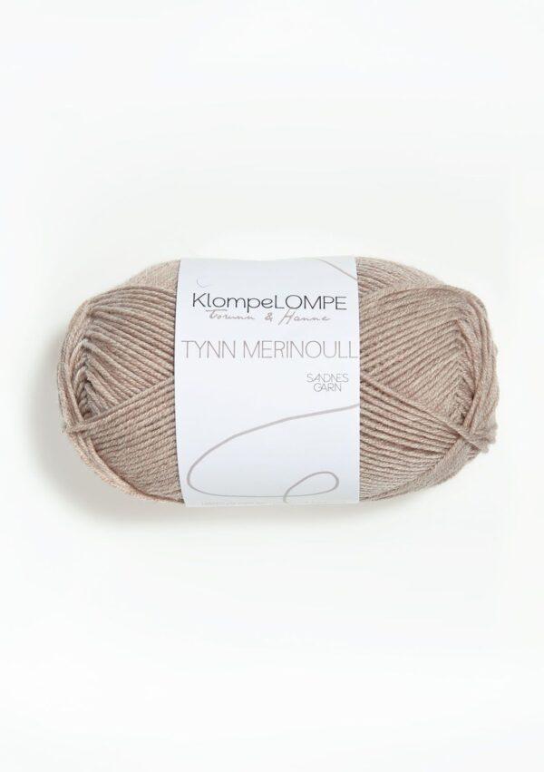 KlompeLompe Tynn Merinoull 2650 - Beige Meleret