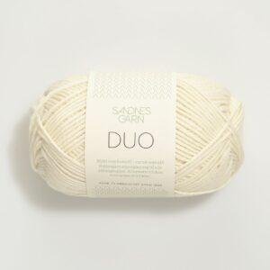 Garn Sandnes Duo 1002 - Hvid