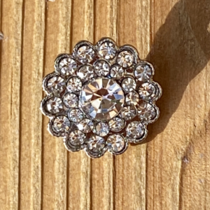 Bling knap 15 mm