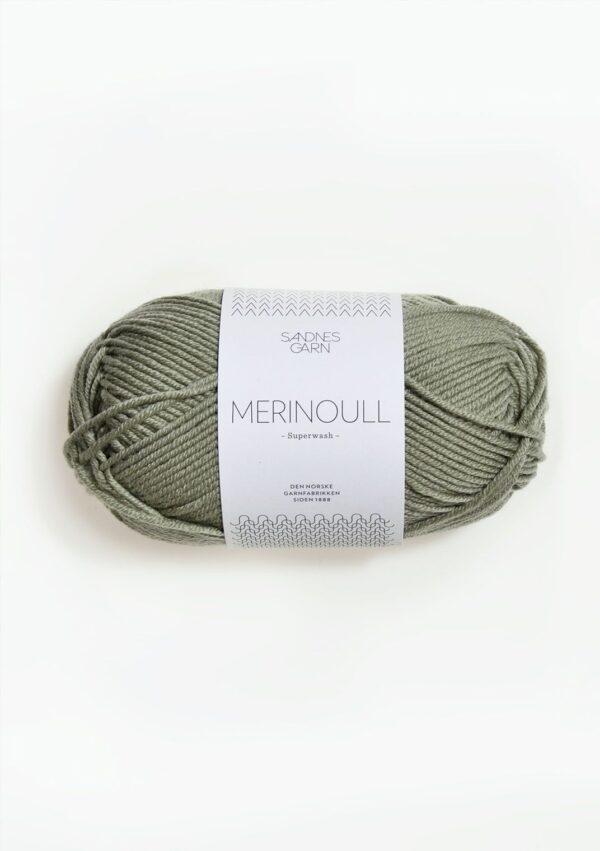 Merinoull 8521 Lys Støvet Grøn