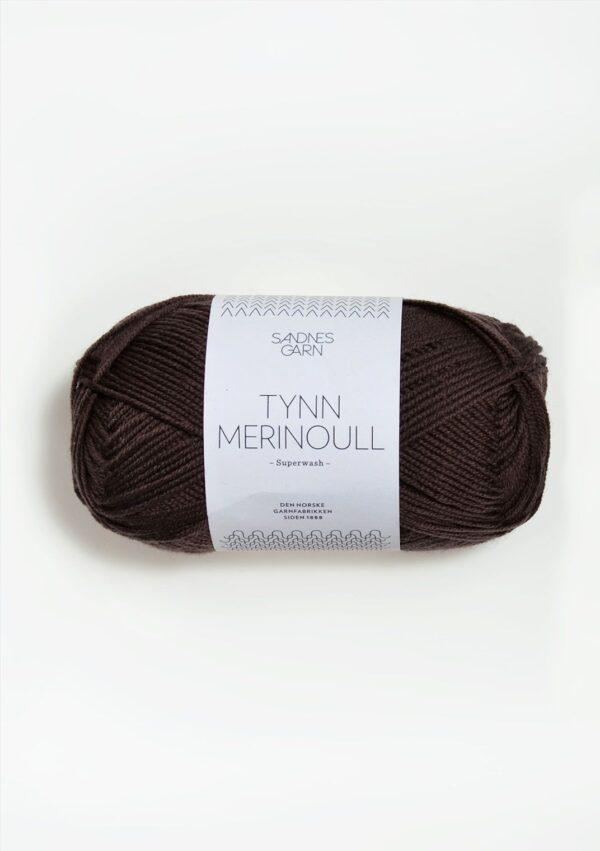 Sandnes Tynn Merinoull 2571 - Mørk Brun