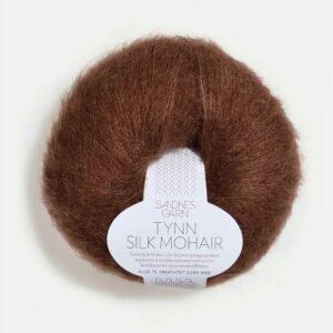 Sandnes Tynn silk Mohair 3072 - Mørk Brun