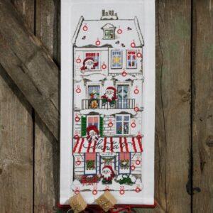 Adventskalender med Julemandens hus
