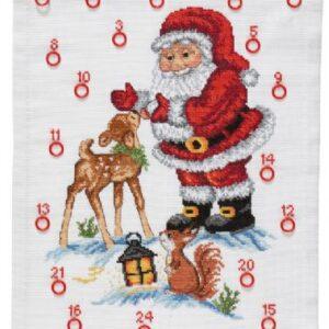 Julekalender med Julemand med rådyr