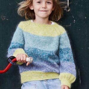 890912 - Sweater med snoet raglan og ballonærmer
