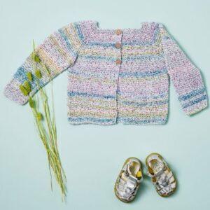 891325 - Retstrikket babytrøje