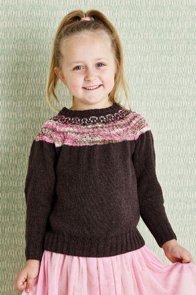 893415 -Sweater med ribmønstret bærestykke