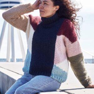 899405 Sweater med grafisk mønster