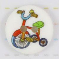 Knap med trehjulet cykel