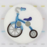 Knap Blå Cykel