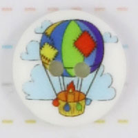 Knap med luftballon