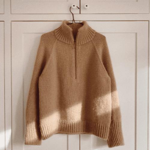 PetiteKnit Zipper Sweater