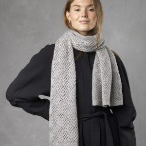 Strikkeopskrift på halstørklæde i mønsterstrik