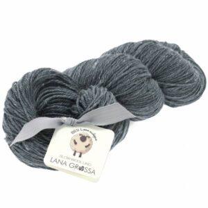 Slow Wool Lino 007 Mørkegrå fra Lana Grossa