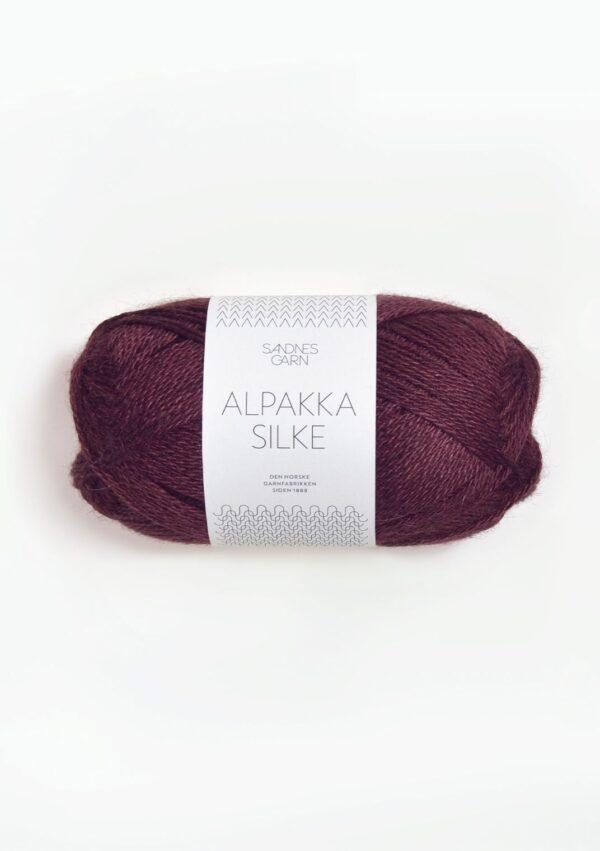 Alpakka Silke 4372 Dyb Burgunder