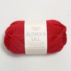 Alpakka Ull 4219 Rød