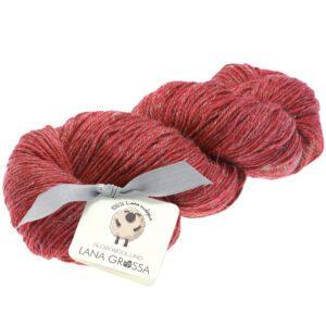 Lana Grossa Slow Wool Lino 026 Rød