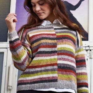 Strikkeopskrift på stribet sweater