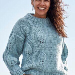 OpskrifSweater på med bladmønster